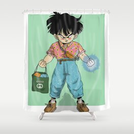 Kid Gohan Shower Curtain