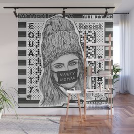 (Cara - Nasty Woman) - yks by ofs珊 Wall Mural