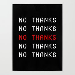 NO THANKS Poster