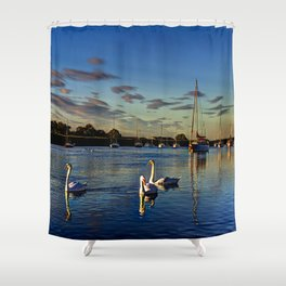 Swan River Shower Curtain