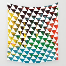 Color Chrome -geometric graphic Wall Tapestry