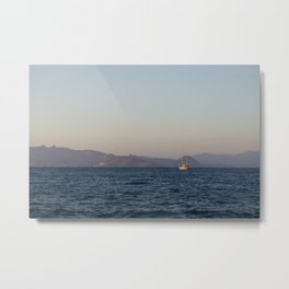 Sailing to Turkey Metal Print