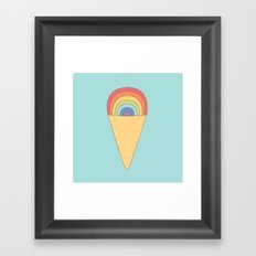 Rainbow ice cream Framed Art Print