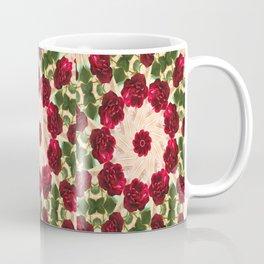 Old Red Rose Kaleidoscope 13 Coffee Mug