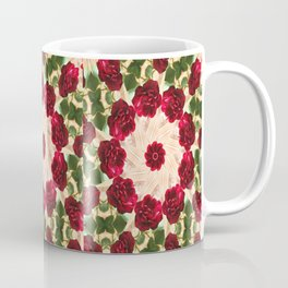 Old Red Rose Kaleidoscope 13 Coffee Mug
