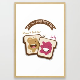 Peanut butter and jelly T-shirt, Cute unusual National Best Friends Day gift Framed Art Print