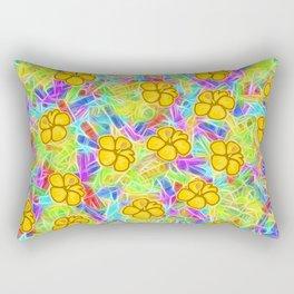 Hawaiian Yellow Flowers Rectangular Pillow