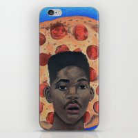fresh prince iPhone & iPod Skins featuring Pizza Prince by Andiwa