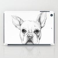onesie iPad Cases featuring french bulldog by Linn Warme