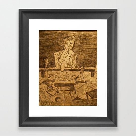 mind at work  Framed Art Print
