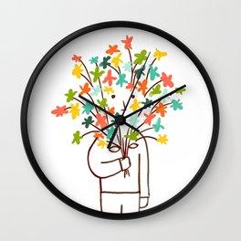 I bring flowers Wall Clock