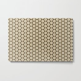 Brown gift wrapping paper with ornaments seamless Metal Print