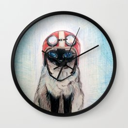Aviator Cat Wall Clock
