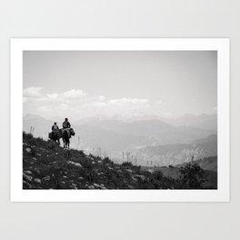 To the Mountains Art Print