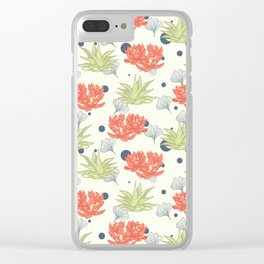 Succulent Pattern. no1 Clear iPhone Case