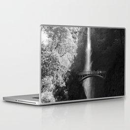 Multnomah Falls Oregon Waterfall Black and White Laptop & iPad Skin