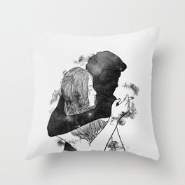 Cigarette smell. Throw Pillow