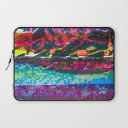 GLITCH INK - screen printed texture Laptop Sleeve