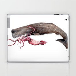 Epic battle between the sperm whale and the giant squid Laptop & iPad Skin