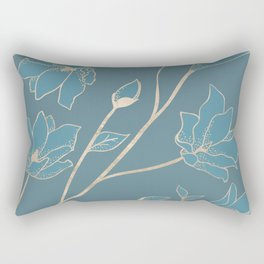 Blueprint Color of the year - Floral 1 Rectangular Pillow