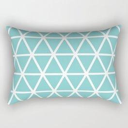 Aqua Triangle Pattern 3 Rectangular Pillow