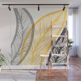 Friendly Flora - Colorful Leaf Design Wall Mural