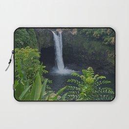 Rainbow Falls in Hawaii Laptop Sleeve