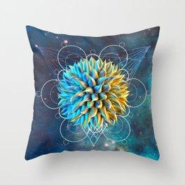 Weird Space Alien Life Throw Pillow
