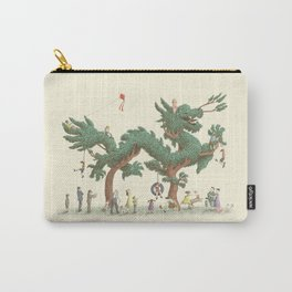 The Night Gardener - Dragon Topiary  Carry-All Pouch