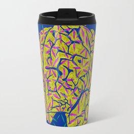 Floral Brain Travel Mug