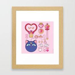 Small Lady Starter Kit  Framed Art Print