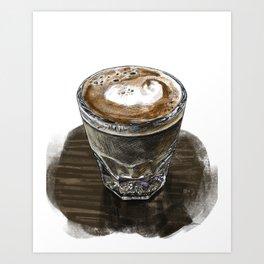 Cortado at Cafe Olimpico Art Print