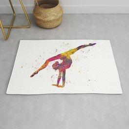 Rhythmic gymnastics competition in watercolor 04 Rug