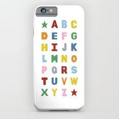 Alphabet on White iPhone 6s Slim Case