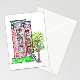 DC Row House No. 3 II Capitol Hill Stationery Cards