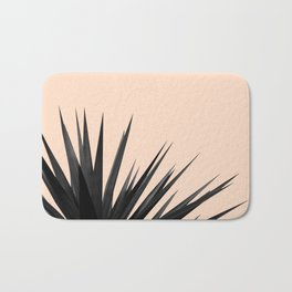 Black Palms on Pale Pink Bath Mat