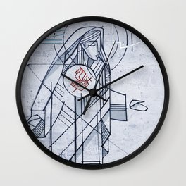 Mary Immaculate Heart Wall Clock