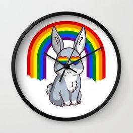 Gay Pride Rabbit - Support LGBTQ Wall Clock