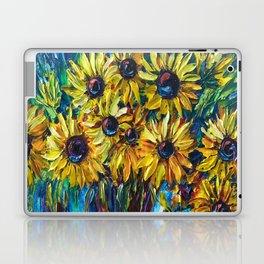 SUNFLOWERS — Palette knife Laptop & iPad Skin