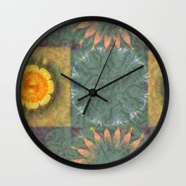 Subdepository In The Altogether Flowers  ID:16165-124313-39460 Wall Clock