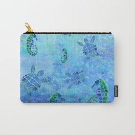 Sea Turtle Batik Carry-All Pouch