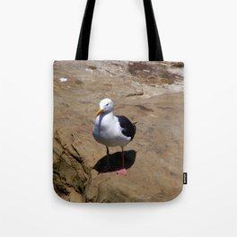 Me and My Shadow ~ Seagull at La Jolla, California Tote Bag