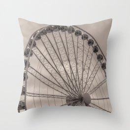 Seattle Great Wheel Throw Pillow