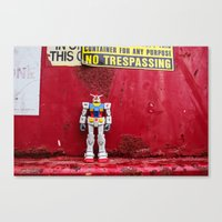gundam Canvas Prints featuring Gundam by Space Out