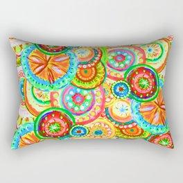 Vibrant Floral Design Rectangular Pillow