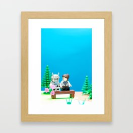 Awkward First Date Framed Art Print