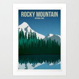 Rocky Mountain National Park - Travel Poster Art Print