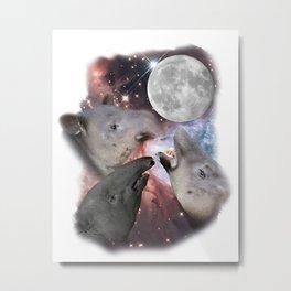 Three Moon Tapir Metal Print