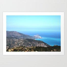 Cefalu´ vista da Pollina (Sicily) Art Print
