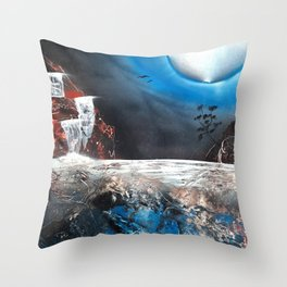 Hot Springs Next to a Tree Throw Pillow